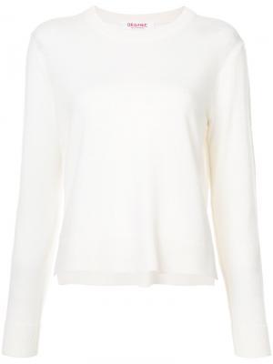 Укороченный пуловер с круглым вырезом Organic By John Patrick. Цвет: белый