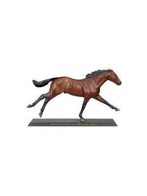 Лошадь Американский Фараон 3-х кратный победитель 1:9 Breyer. Цвет: коричневый, черный