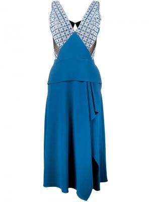 Платье Kao Roland Mouret. Цвет: синий