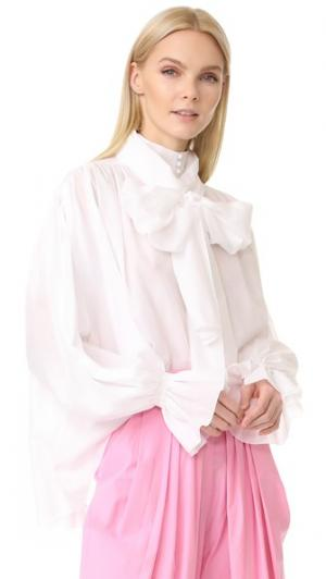 Блуза с бантом Pussy Vika Gazinskaya. Цвет: белый