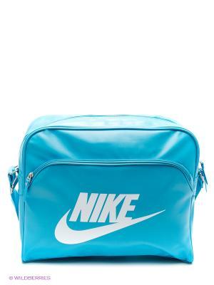 Сумка HERITAGE SI TRACK BAG Nike. Цвет: голубой