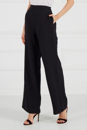 Черные брюки из хлопка и льна Cyrille Gassiline. Цвет: черный