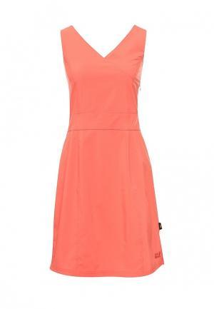 Платье Jack Wolfskin. Цвет: коралловый