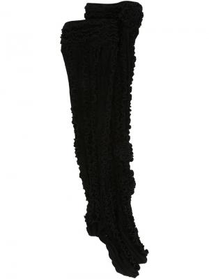 Гольфы с рюшами Ryan Lo. Цвет: чёрный