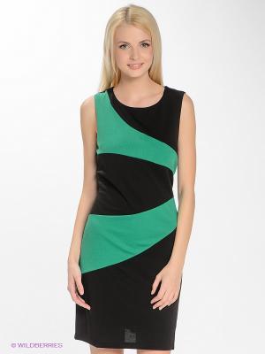 Платье Blue Seven. Цвет: черный, темно-зеленый