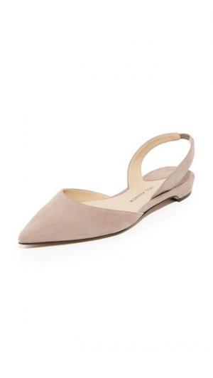 Замшевая обувь на плоской подошве Rhea Paul Andrew. Цвет: серо-коричневый