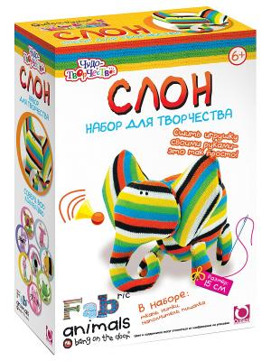 Чудо -Творчество. Fabric animals Сшей игрушку Слоник. Чудо-творчество. Цвет: зеленый, красный, желтый