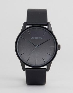 UNKNOWN Часы с черным кожаным ремешком Urban. Цвет: черный