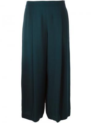Широкие укороченные брюки Theory. Цвет: синий