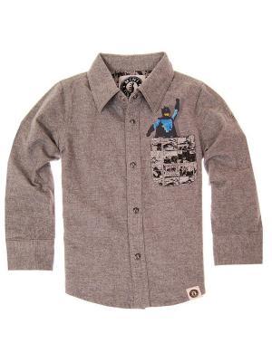 Рубашка с длинным рукавом Pow! Pocket Super Hero Shirt Mini Shatsu. Цвет: серый