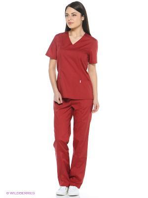 Брюки медицинские Med Fashion Lab. Цвет: бордовый