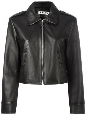 Укороченная куртка Aalto. Цвет: чёрный