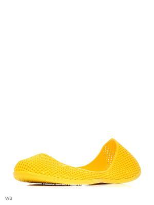 Туфли купальные из поливинилхлоридной комп. Женские. BRIS. Цвет: желтый