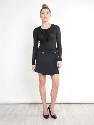 Блузка SEVONA. Цвет: темно-коричневый