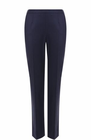 Укороченные кашемировые брюки со стрелками Loro Piana. Цвет: темно-синий