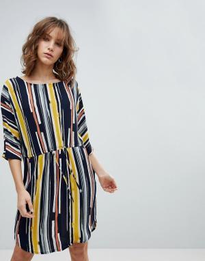 MbyM Платье в полоску. Цвет: мульти