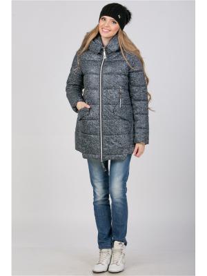 Куртка А Б Коллекция. Цвет: серый меланж