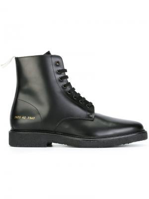 Ботинки на шнуровке Common Projects. Цвет: чёрный