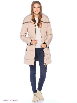 Стеганое пальто Colin's. Цвет: бежевый