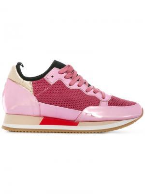 Metallic sneakers Philippe Model. Цвет: розовый и фиолетовый