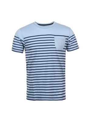 Футболка Fresh. Цвет: голубой, темно-синий