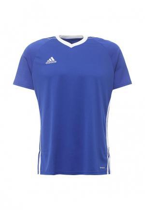 Футболка спортивная adidas Performance. Цвет: синий