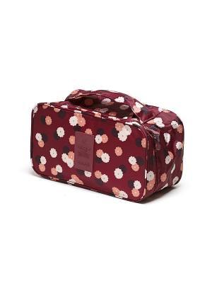Органайзер-косметичка Бордовый Цветок Homsu. Цвет: бордовый