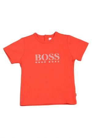Футболка Hugo Boss. Цвет: красный