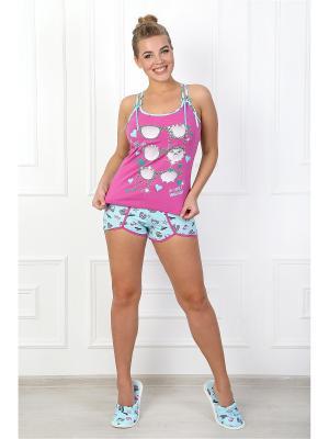 Пижама Бикини 2 ВиоТекс Партнер. Цвет: фуксия, бледно-розовый