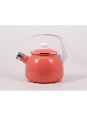 Чайник эмалированный ЛЗ ЭП. Цвет: коралловый