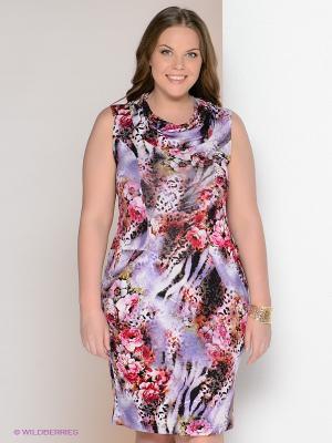 Платье МадаМ Т. Цвет: сиреневый, розовый