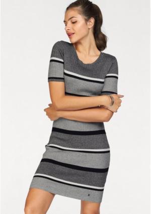 Платье AJC. Цвет: черный/серый меланжевый/белый