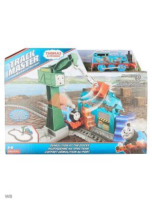 Игровой набор с паровозиком Томасом и подъемным краном Крэнки THOMAS & FRIENDS. Цвет: синий, зеленый
