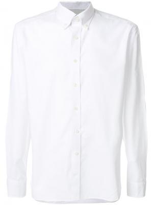 Классическая рубашка Hackett. Цвет: белый