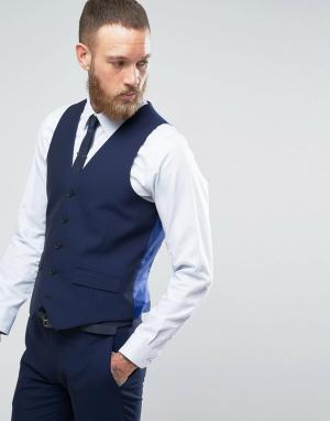 Harry Brown Однотонный жилет. Цвет: синий