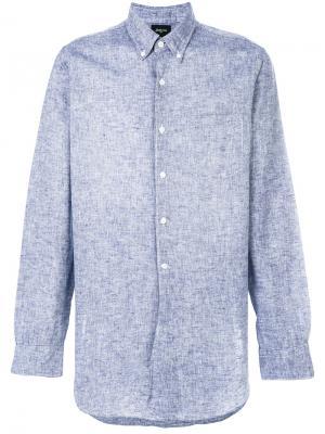Хлопчатобумажная рубашка Bellerose. Цвет: синий