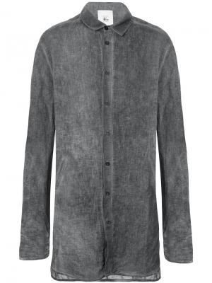 Рубашка с удлиненными рукавами Lost & Found Rooms. Цвет: серый