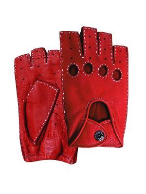 Перчатки ESMEE. Цвет: красный
