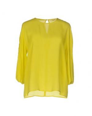 Блузка SUOLI. Цвет: кислотно-зеленый