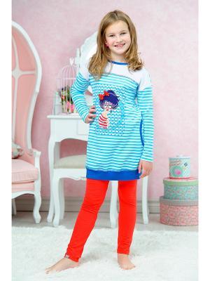 Пижама KitFox. Цвет: голубой