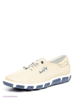 Ботинки Makfly. Цвет: бежевый