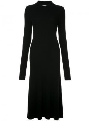 Трикотажное платье в рубчик Organic By John Patrick. Цвет: чёрный