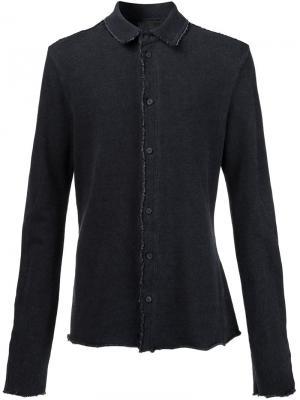 Рубашка с необработанными краями Lost & Found Ria Dunn. Цвет: чёрный