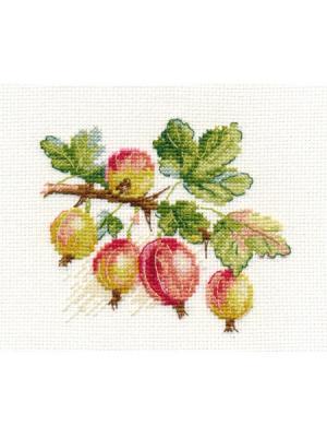 Крыжовник 11х9 см Алиса. Цвет: зеленый, светло-зеленый, салатовый, коричневый, розовый