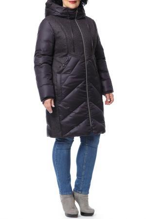 Пальто D`imma. Цвет: черничный