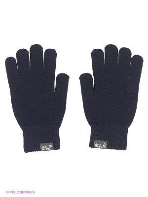 Перчатки RIB GLOVE Jack Wolfskin. Цвет: темно-синий