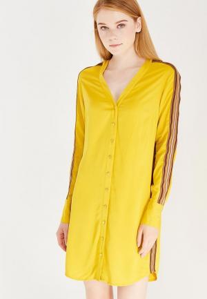 Платье Sisley. Цвет: желтый