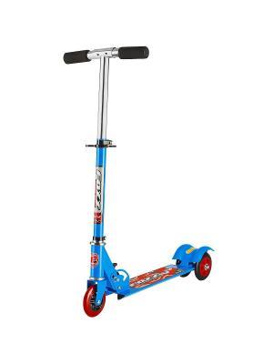 Самокат городской Foxx Smooth Motion сталь PVC колеса 100мм ABEC-7. Цвет: синий