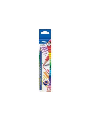 Lyra osiris 6цв. цветные карандаши,треуг.сечение. Цвет: синий, белый, желтый