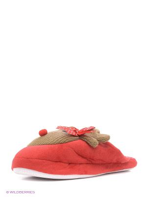 Домашние тапочки Burlesco. Цвет: красный
